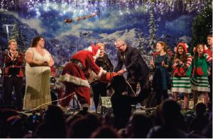 Santa Claus and partners of the Clearwater Community Volunteers plugged in the Christmas lights, officiating the opening of the 27th annual Winter Wonderland.
