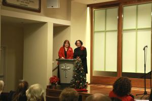 The service was let by Rev. Alice Baber-Banks of the Christian Fellowship Ministry of North Sacramento and Rev. Kay Alice Daly of the Scientology Church.