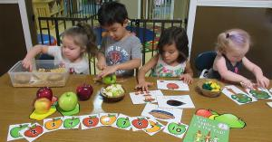 All children are involved during learning and nutrition activities.