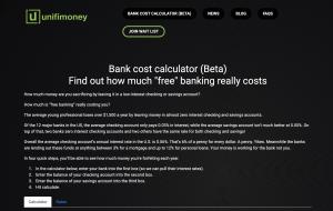 Unifimoney calculator screen shot