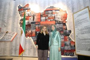 Ashraf-3, Albania, January 29, 2020 - Mrs. Monika Kryemadhi, Chairwoman of the Socialist Movement for Integration Party, and Mrs. Maryam Rajavi, the President-elect of the NCRI, visiting the Museum of 120 Years of Struggle for Freedom in Iran.