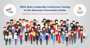 Illustration of diverse group of people for the FBLA State Leadership Conference