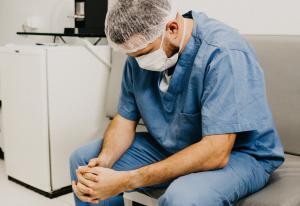 Overwhelmed Healthcare Worker