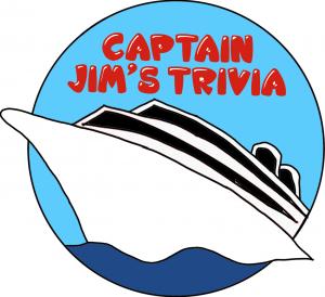 Captain Jim's Trivia Logo -- a cartoon cruise ship