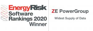 ZE Ranked First in Widest Supply Of Data from the Energy Risk Software Ranking