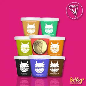 I Scream! You scream! NO BULL -- We all scream for BeVeg Certified Vegan dairy free ice cream.