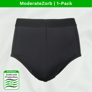 Zorbies Washable Incontinence Underwear Moderate Absorbent