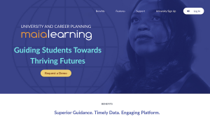 MaiaLearning 4.0 landing page