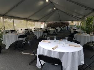 affordable tent and event rentals with walls to protect aginst rain