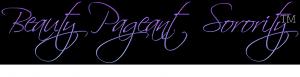 Beauty Pageant Sorority Logo