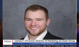 JAMES F. O'CONNOR, DIRECTOR OF MARKETING, GO SOLAR GROUP, INTERVIEWED BY DOTCOM MAGAZINE