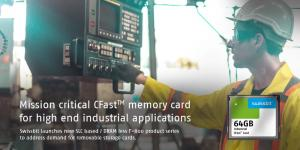 CFast™ memory card F-800 from Swissbit for high-end industrial applications