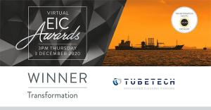 Energy Industry Council Transformation Award Winner Tube Tech International
