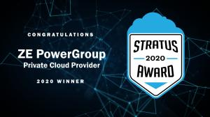 ZE Wins Stratus Award for Private Cloud Computing