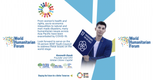 Hong Kong-based Kenneth Kwok is appointed to World Humanitarian Forum and its Youth Council in 2020.