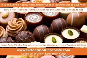 The Sweetest Paid Gig for Kids... Learn to Work in LA #kidsgetpaidtoeat #12monthsofchocolate