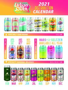 Urban South Brewery Unveils 2021 Beer Release Calendar 1