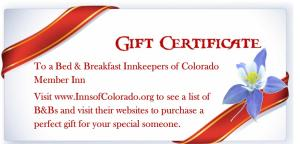Gift Certificates and buy now stay later opportunities are available for last minute purchases