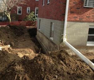 Home with a Drainage System in CT