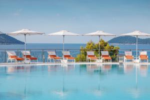 Resort, dubrovnik, croatia, pools