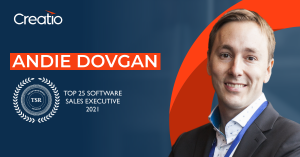 Creatio's CSO, Global Markets, Andie Dovgan, Named Top 25 Software Sales Executives of 2021