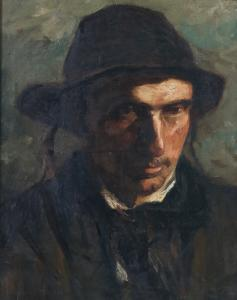 Oil on canvas portrait of a gentleman by Jozef Israels