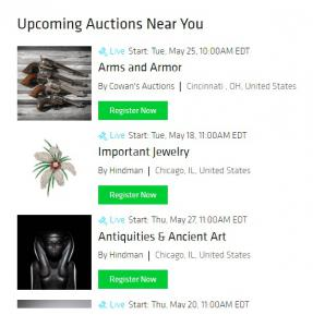 """Bidsquare's """"Auctions Near Me"""" page"""