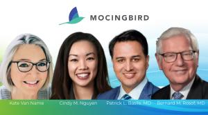 Mocingbird advisory board members from left to right, Kate Van Name, Cindy Nguyen, Patrick Basile, Bernard Rosof