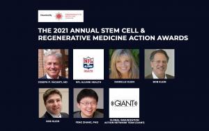 2021 Stem Cell & Regenerative Medicine Action Award Honorees.