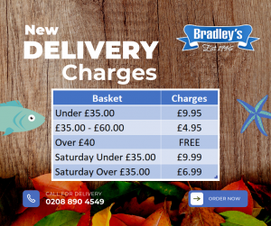 Bradleys Fish New Delivery Charge