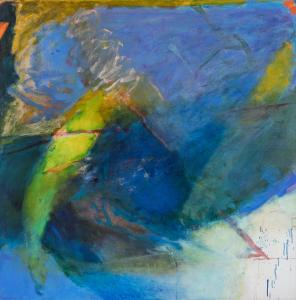 Oil on canvas by Emily Mason (American, 1932-2019), titled Gentian Waves, signed and dated 1986-87. Estimate: $8,000-$12,000