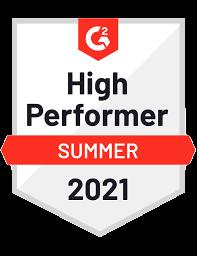 G2 Summer 2021 High Performer Badge Zesty.io