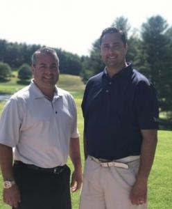 Golfers Joe and Stephen Basile take to the course to raise money for the Jimmy Fund