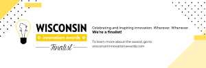 Graphic of Wisconsin Innovation Award and SMARTcare named a Finalist.