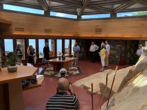 Author Joe Massaro leads tour of his Frank Lloyd Wright inspired house