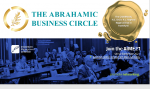 The Abrahamic Business Circle's Founder Dr. Raphael Nagel will be at the Investment Management Exhibition in Frankfurt 1