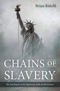 This is a photo of the cover of Chains of Slavery.