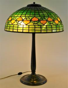 Early 20th century Tiffany Studios (N.Y.) 'Bleeding Heart' table lamp, 22 inches tall overall, presents beautifully (estimate: $10,000-$15,000).