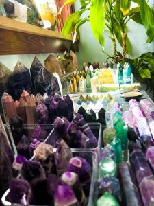 Large variety of crystal towers