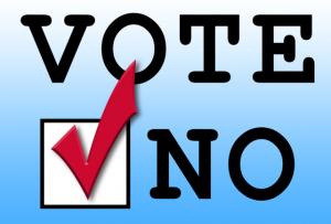 Vote No Graphic