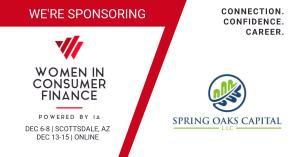 Spring Oaks Capital sponsors Women in Consumer Finance