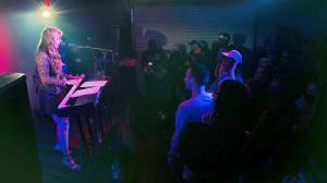 Liza Donihue playing music