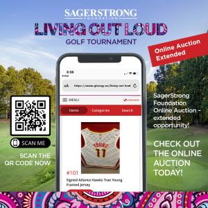SagerStrong Foundation, Golf Tournament, Online Auction, Extended