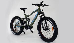 Full Suspension Electric Fat BIke Mid Drive Motor
