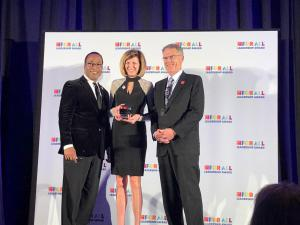 Great Place to Work President Michael Bush, American Fidelity President Jeanette Rice and American Fidelity Corporation President Dave Carpenter