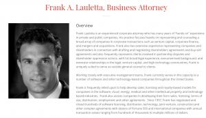 Frank Lauletta, Attorney Profile at solomonlawguild.com