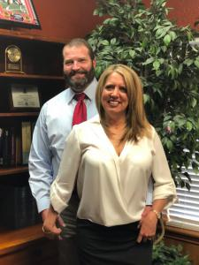 Brett and Cindy Pritchard at the Law Office of Brett H. Pritchard in Killeen