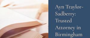 Website of Lawyer Ayn Traylor Sadberry