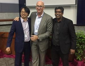 Pictured: Daniel Kho, CTO, Synvue, Pierre Brunswick, CEO, Neuromem and Richard Joseph, CEO, Synvue
