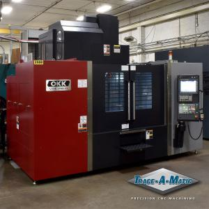 Trace-A-Matic OKK VM76R vertical machining center installation.